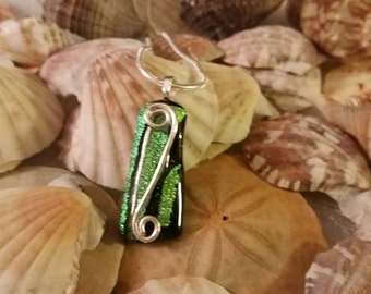 Curl Wire Glass Pendant