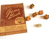 Vintage Lowe Instruction Game Book and Dice