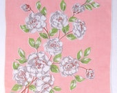 Handkerchief Pink with Gray Flowers NWT Vintage