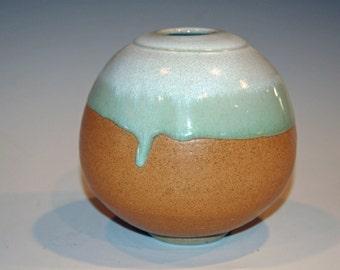 Ceramic Vase, Ceramic and Pottery Vase, Green and Gold, White and Gold, Flower Vase