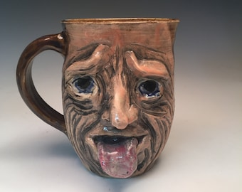 LARGE Funny Face Mug One of a Kind
