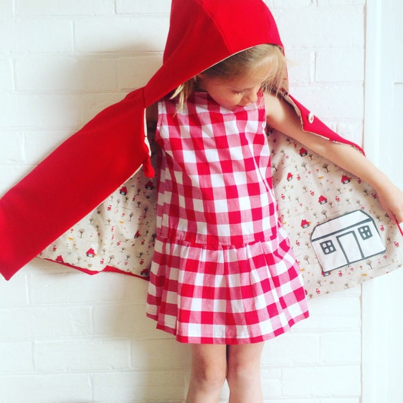 Little Red Riding Hood Cape, poncho , winter coat