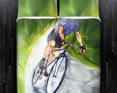 Bicycle Cycling Bike Cyclist Duvet Cover Bedding Queen Size King Twin Blanket Sheet Full Double Comforter Toddler Daybed Kid Teen Dorm