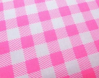 Gingham check  - Pink -