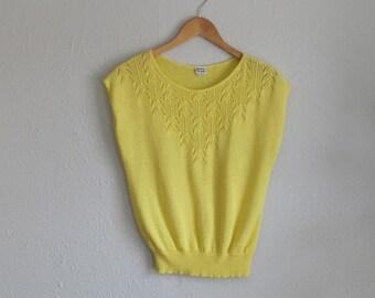 1980s Pointelle Sweater