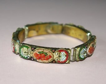 Beautiful Edwardian Italian micro mosaic bracelet