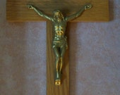 Crucifix Cross Catholic Wooden Crucifix Light Oak Wood Cross Jesus on the Cross Crucifixion