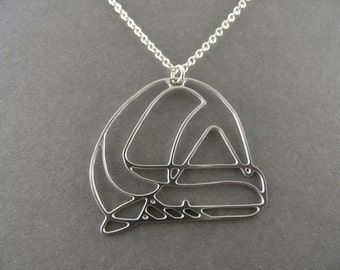ocean necklace, whale necklace, whale jewelry,silver whale