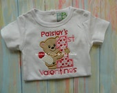 1st Valentine My first Valentine Shirt Cute Bear Valentine Shirt