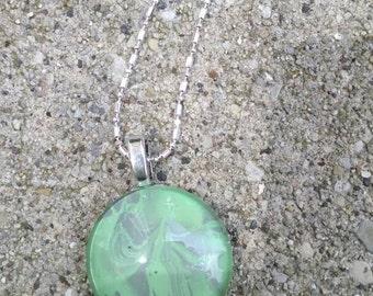 Light green glass Pendant necklace