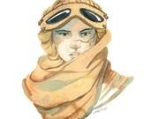 Star Wars - Rey Watercolor Portrait