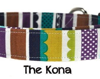 Striped Dog Collar - The Kona