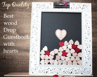 drop top guestbook wedding guestbook White Drop Box Guestbook frame Top Wedding   Alternative - wedding   drop box  shabby chic wedding