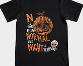 N IS FOR...  (MEDIUM) Screenprinted Halloween T-Shirt