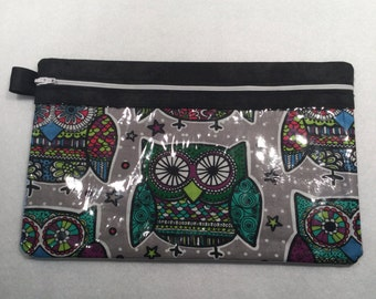 Clear View Owl Cosmetic, Sewing Supply, Electronic Accessories and More Versatile Storage Bag