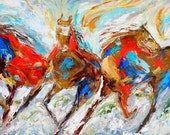 Reserved for jcarranzaparra Original oil painting custom order - final payment for wild horses
