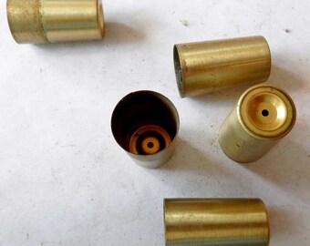 1 nos vintage MCM turned tappered leg brass ferrel end cap