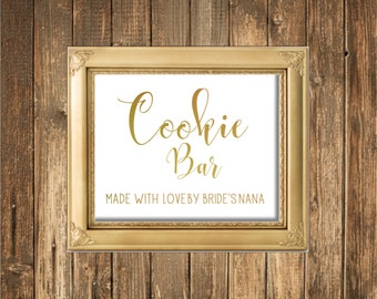 REAL Gold Foil Sign-Cookie Bar Sign-REAL Gold Foil Wedding Signs
