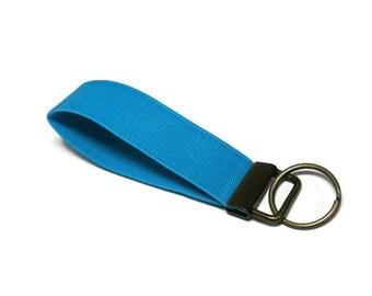 Turquoise Blue Key Holder. Stretchy Turquoise Key Fob.  Bracelet Style Key Organizer. Turqouise Stretch Key Fob Wristlet Choose your Size