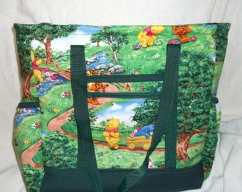 Winnie the Pooh Diaper Bag, Tote, Carry On, Book Bag