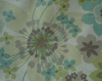 Rich Bloom Screen Print Design Fabric in Spring Colors