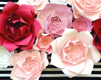 Paper Flower Wall, Ready To Ship, large paper flower backdrop, Nursery decor paper flowers, Kate Spade paper flowers, baby shower decor