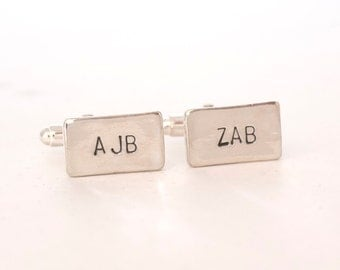 Personalized Initials Cuff links, Monogrammed Cufflinks, Gifts for Grooms, Brides Gifts to Grooms, Wedding Gifts from Brides, Custom Gifts