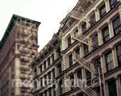 New York Print, Soho, Cast Iron Historic District, Architecture, Travel Photography, Neutral, New York City Print