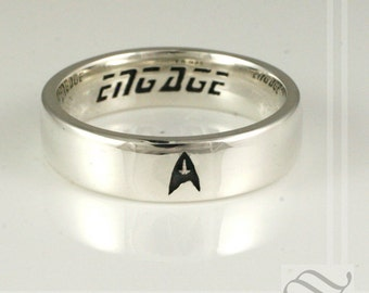 mens engagemet ring star trek inspired - Star Trek Wedding Ring
