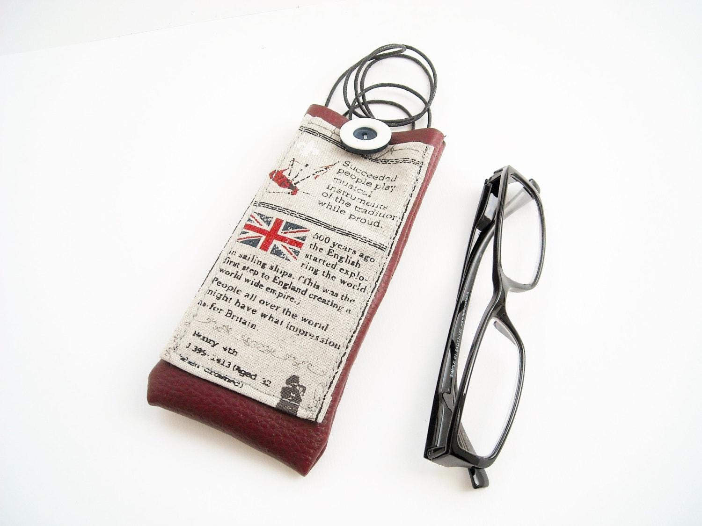 Londra portaocchiali da collo custodia occhiali con tasca e - Si porta al collo ...