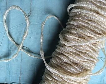 1920s 1930s Rare Vintage Horsehair,  Aurora Borealis Iridescent Braided Horsehair,Dressmakers Millinery Sewing & Needlecraft Supplies, 1 YD