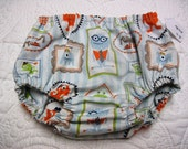 CLEARANCE, price reduced, Baby boy medium monster family bloomers, diaper cover, baby pants, photo prop