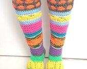 PDF Pattern Instant Download Crochet Knee High Slipper Socks Pattern, Unique Handmade Socks, Intermediate Advanced Pattern