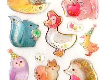 kawaii epoxy stickers