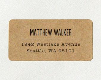Return Address Labels - Design #03, Minimalist Text Address Labels, Gifts for Men, Simple Address Labels