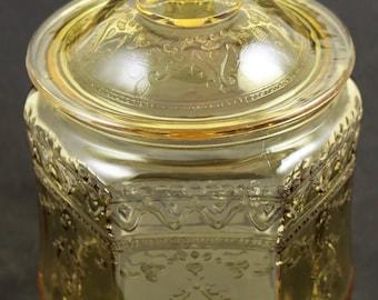 Patrician aka Spoke Amber Cookie Jar