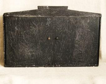 Primitive Cabinet, Folk Art Cabinet, Case, Storage, Desk Box, Desk Top Cabinet, Secretary, Handmade, Primitives, Rustic Decor, Cabinet, Wood