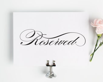 Reserved Sign for Your Wedding in Black and White