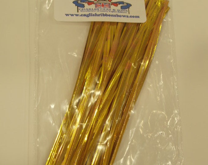 TWIST Tie WIRE - 6 inch length,  50 PCS per package, specify color: gold or silver, superior quality, re-usable