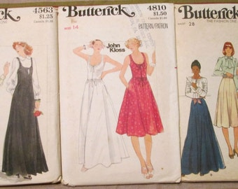 Lot of 3 Butterick Patterns 1070s