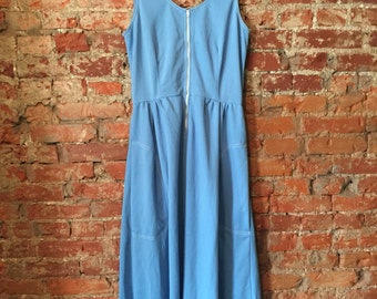 Maxi Length dress with contrast stitching