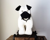 PUG Puppy Dog - Dog Pull Toy - Folk Art Dog - Kids' Room/Baby Nursery Decor - Dog Lovers Gift - Toy Reproduction - Soft Sculpture Art - JED