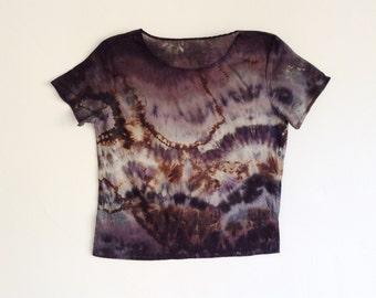 Tie Dye Gray Geode Tee in XS/S