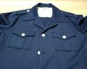 Navy Safari Jacket Captains Jacket 70s Leisure Jacket Retro Unisex Blazer