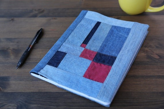 Modern Quilt Journal Book Cover Ghee's Bend Inspired