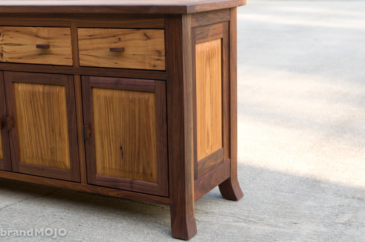 Reclaimed Wood Sideboard Chest Console or Hutch - Reclaimed Wood Chest Etsy