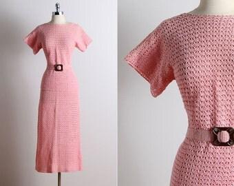 Vintage 30s Dress | 1930s vintage crochet set | vintage skirt & top S/M | 5686