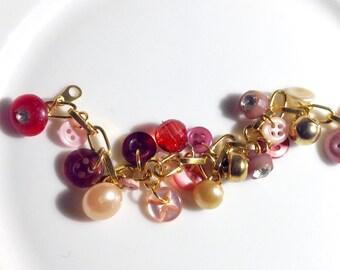 Dangle Button Bracelet