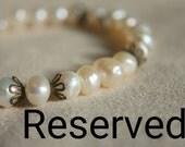 RESERVED FOR KATE .. Bridal Giftset 4 Freshwater Pearl bracelets
