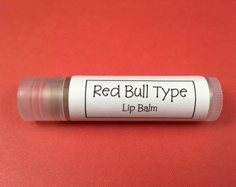 Red Bull Type Lip Balm | Red Bull Type Chapstick | Lip Balm with Shea Butter | Lip Balm w Vitamin E | Hostess Gift | Energy Drink Lip Balm